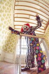 DSC_0123 (Michael P Bartlett) Tags: scary evil fisheye clowns evilclowns