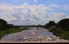 DULNAS - PAISAGEM (Dulce Nassif) Tags: sky water rio gua clouds river cu ponte nuvens