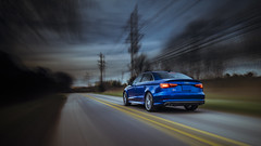 Two Roads Diverged in a Wood... (Chris Arace) Tags: red motion robert car mi germany woods poetry frost detroit automotive rig portfolio audi s3