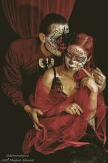 Silvia e Caio (SoloImmagine) Tags: face painting mexico skeleton skull paint mexican diadelosmuertos calavera calaca