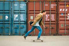 (varakavaraka) Tags: blue red people motion color contrast canon ride russia colorfull run skate skateboard