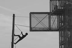 Aufstiegshilfe ( eulenbilder - berti ) Tags: ausstellung rundblick informationen plattform inden aufstieg aussichtsturm aussichtsplattform stahlriese tagebaulandschaft indemann goltsteinkuppe