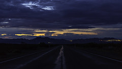 02469067-75-Lonely Desert Highway at Sunset After the Rain-1 (Jim would like to get on Explore this year) Tags: road sunset usa southwest america nevada places nelson april mojavedesert 2016 eldoradocanyon nearlasvegas canon5dmarkiii tamron45mmf18divcusd