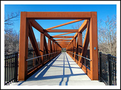New Pedestrian Bridge Over the Huron River (sjb4photos) Tags: bridge shadows michigan ypsilanti washtenawcounty