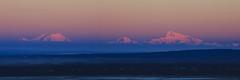 Denali Range Sunrise (Ed Boudreau) Tags: alaska sunrise landscape panoramic denali mtmckinley alpenglow landscapephotography alaskalandscape denalirange