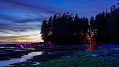 Rotate (~138~) Tags: light white canada lightpainting abstract black colour green art beach water colors night ball dark botanical lights cool nightlights colours bc purple vancouverisland sphere dome paintingwithlight streaks lightart 138 botanicalbeach lightpaint bcbeach singleexposure