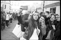 (Best Angle) (Robbie McIntosh) Tags: leica blackandwhite bw selfportrait film girl monochrome analog 35mm eyecontact candid telephone strangers streetphotography cellphone rangefinder bn d76 summicron negative ilfordhp5 hp5 analogue m2 ilford biancoenero argentique selfie leicam2 dyi selfdeveloped pellicola analogico sunny16 nometering leicam filmisnotdead kodakd76 autaut leicasummicron35mmf20iv guessexposure leicasummicron35mmf2iv summicron35mmf20iv