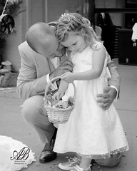 Father's Love (Andrew.Bones) Tags: family wedding white black flower girl canon child hand basket dress father young tasmania held hobart tamron far desaturate longley 7dmii