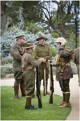 At ease (Jerome Cornick) Tags: soldier army uniform australia perth nurse ww1 kingspark sunsetservice fromelles