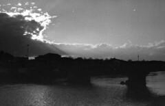 sunset lines (pumobelix) Tags: sunset blackandwhite river arno foma caffenol fomapan fomacreative