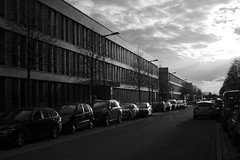 14.04: Heading home (Gulius Caesar) Tags: road street sun building car canon munich eos rebel office could t2i