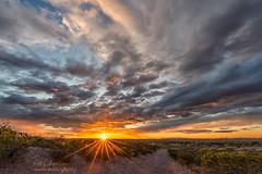 Sunrise (inlightful) Tags: morning sunset sky sun sunshine clouds sunrise evening dirtroad rays sunrays sunbeams