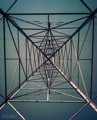 March Wanderings (Ollie Smith Photography) Tags: metal architecture nikon cheshire symmetry pylon lookup depthoffield runcorn abstractarchitecture halton sigma1750 d7200 lightroom5