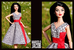 ITBE Night in Classic OOAK Vintage Dress 1 (marcelojacob) Tags: classic fashion night toys doll dress monogram jacob barbie minx poppy edition marcelo royalty parker basic integrity silkstone itbe