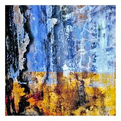 murs de Grand Bassam (3) (Marie Hacene) Tags: africa orange bleu textures mur afrique grandbassam