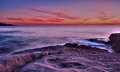 there is something magical about sitting on the rocks and watching the sun say good night (Eileen's Snapshots) Tags: sunset fb pacificocean sunsetcliffs sandiegocalifornia eileenssnapshots