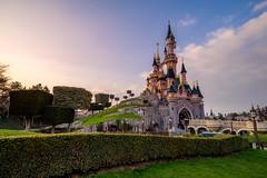 Le Chateau de la Belle au Bois Dormant (BretJMiller) Tags: travel sunset vacation paris france castle disneyland disney sleepingbeauty disneylandparis sleepingbeautycastle parcdisneyland lechateaudelabelleauboisdormant sonya7r canon1635f4lis