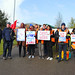 Junior Doctors and Unite union supporters outside Norfolk and Norwich University