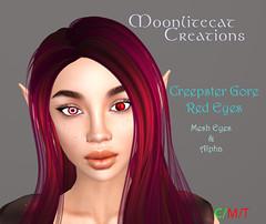 Creepster Gore Red Eyes (moonlitecat) Tags: life red eyes mesh creepy gore demon creations creepster secondlifesecond moonlitecat