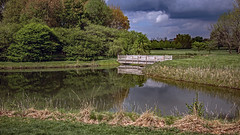 Arboretum, University of Illinois at Urbana-Champaign (myoldpostcards) Tags: usa reflection nature water season landscape illinois spring pond unitedstates ui arboretum il universityofillinois uiuc champaigncounty centralillinois urbanachampaign myoldpostcards vonliski