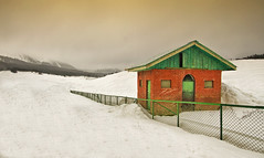The World of Contrasts... (The Canon Fanboy) Tags: travel red india white snow travelling colors canon landscape photography asia wanderlust explore kashmir cloudscape cloudporn winters gulmarg photodiaries