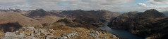 Looking towards Kinlochhourn from the summit of Druim Fada (Mumbles Head) Tags: mountains scotland highlands grahams glenelg