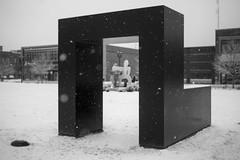 Papajohn Blizzard (mfhiatt) Tags: blackandwhite sculpture snow iowa blizzard desmoines tonysmith pappajohnsculpturegarden pappajohnsculpturepark 2152015 215in2015 image211215 img30281215jpg