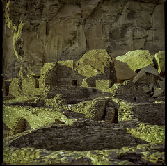 ChacoCanyon1997-480 (sara97) Tags: newmexico analog landscape outdoors 1997 chacocanyon archeology analogphotography kodakfilm kowa6 kodakektachromee100sw photobysaraannefinke kowa6mediumformat chacoculturehistoricpark