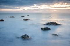 Mar en calma (Chus Blazquez) Tags: sunset sea stone atardecer mar cielo almera cabodegata roca largaexposicin thewebfoto
