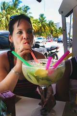 Miami 2015 (TheJennire) Tags: camera trip travel light summer portrait people luz beach canon cores mom lunch photography photo colours foto florida drink young mother colores teen eua indie mojito fotografia miamibeach camara straws 2015 tumblr
