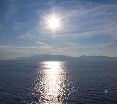 Wandering in the Aegean Sea (Ariadni's Thread) Tags: summer ship greece dreamy greekislands picturesque paros magnificent greekflag darkblue blueandwhite bluesea 2015 aegeansea deepbluesea aegeanislands travelbyship onthewaytogreekislands wanderingintheaegeansea