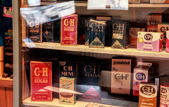 C&H sugar box display (Walt Barnes) Tags: ca old food history museum canon vintage advertising eos calif sp boxes crockett topaz southernpacific traindepot chsugar 60d canoneos60d eos60d topazclarity crocketthistoricalmuseum topazinfocus wdbones99