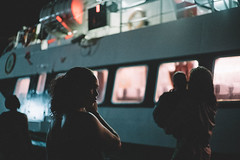 Untitled (jchevailler) Tags: light sea girl lady night boat