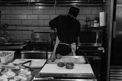 Crab Kitchen (Kurt Whitley) Tags: blackandwhite kitchen market maryland crab baltimore seafood crabcake faidleys