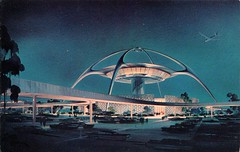 Los Angeles International Airport, California (SwellMap) Tags: architecture plane vintage advertising design pc airport 60s fifties aviation postcard jet suburbia style kitsch retro nostalgia chrome americana 50s roadside googie populuxe sixties babyboomer consumer coldwar midcentury spaceage jetset jetage atomicage