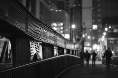 (Brennan Anderson) Tags: street bridge urban bw chicago canon dark streetphotography chitown explore nightstreet 85l 85mmf12lii 5d3 5dmarkiii brennanandersonphotography