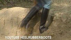 rubber boots (heelrubberboots) Tags: sexy fetish puddle high long play boots rubber messy heels tall heavy muddy rainwear abused talle gummistiefelnmuddy bizarrebootsjpg