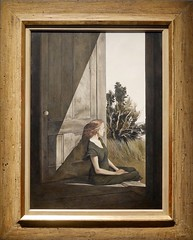 Christina Olsen by Andrew Wyeth 1947. Denver Art Museum, Andrew and Jamie Wyeth in the Studio (Travel to Eat) Tags: portrait woman wyeth andrewwyeth christinaolsen