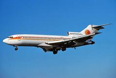 N4613 NATIONAL 727-35 landing at KLAX (GeorgeM757) Tags: airplane aircraft aviation national boeing klax 72735 alltypesoftransport georgem757 n4613