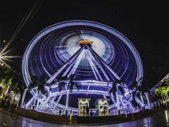 Ferris wheel (Destinysunza) Tags: city travel sky skyscraper thailand lumix bangkok sony olympus fisheye panasonic destiny ferriswheel omd asiatique fisheyeconverter 14mm25 lumixg14mmf25 lumixg1425 olympusomdem5 omde5 destinysunza
