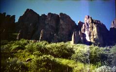 Olympus Trip 500, Kodak Max 400 (K e v i n) Tags: arizona southwest film nature rock analog 35mm landscape outside desert az scan kodakmax400 sonorandesert superstitionmountains lostdutchmanstatepark olympustrip500 epsonv500 treasurelooptrail 021715 february172015