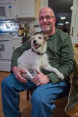 Leica Q - L1130669 (sswee38823) Tags: leica party portrait people dog man portraits amy 28mm indoor newyearseve inside newyears q jeremie summilux leicacamera 2016 leicaq leicaqtype116 summilux28mmf17asph