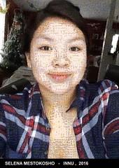 Le selfie de Selena Mestokosho de Ekuanitshit recomposé avec 3000 images des films de Wapikoni mobile !