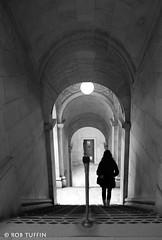 Arches & Library Stairwell,  New York, 5th Avenue, Manhattan, USA (rtmotorphotos) Tags: city light blackandwhite newyork silhouette canon eos mono blackwhite manhattan library 5thavenue sigma arches stairwell stairway 7d blankandwhite 18250
