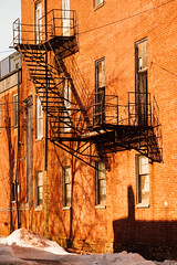 Fire Escape (Robchaos) Tags: street city light shadow urban westminster architecture nikon pattern maryland fireescape carrollcounty d700 sigma50200