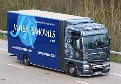 MAN TGX BE57 MOV - James Removals (gylesnikki) Tags: james artwork airbrush removals paintjob