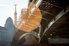 (kareszzz) Tags: bridge winter architecture hungary arch budapest pillar telephoto flare photowalk backlit february 2016 libertybridge 70200l szabadsghd vroskpek canoneos60d