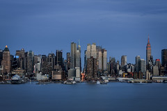 37/365 (Vivid Emotion Photos) Tags: nyc newyorkcity cruise blue sunset sky ny water ferry port canon river boats manhattan nj peak midtown hour hudsonriver hudson bluehour hdr weehawken