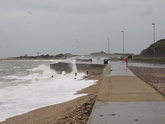 Stormy Sea Wall at Stokes Bay Gosport 2 of 2 (fstop186) Tags: road storm cars weather dangerous flooding waves bad stormy solent crashing stokesbay
