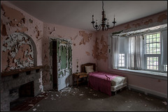 **WHEN REALITY SETS IN** (~*THAT KID RICH*~) Tags: pink light urban usa abandoned canon closet table bed fireplace ruins peeling decay room sheets explore urbanexploration curtains mansion exploration derelict urbex tkr thatkidrich 5dmii richzoeller wwwrichzoellerphotographycom